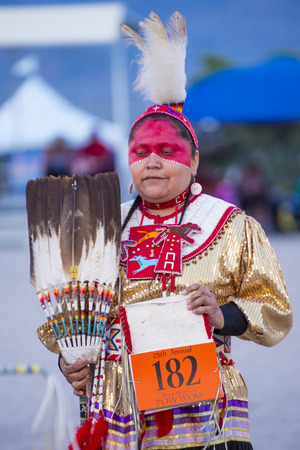pow wow: LAS VEGAS - MAY 24 : Native American woman takes part at the 25th Annual Paiute Tribe Pow Wow on May 24 , 2014 in Las Vegas Nevada. Pow wow is native American cultural gathernig event.