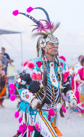 pow wow: LAS VEGAS - MAY 24 : Native American man takes part at the 25th Annual Paiute Tribe Pow Wow on May 24 , 2014 in Las Vegas Nevada. Pow wow is native American cultural gathernig event.
