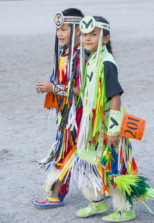 paiute: LAS VEGAS - MAY 24 : Native American boys takes part at the 25th Annual Paiute Tribe Pow Wow on May 24 , 2014 in Las Vegas Nevada. Pow wow is native American cultural gathernig event. Editorial