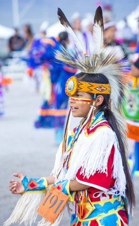 paiute: LAS VEGAS - MAY 24 : Native American boy takes part at the 25th Annual Paiute Tribe Pow Wow on May 24 , 2014 in Las Vegas Nevada. Pow wow is native American cultural gathernig event.