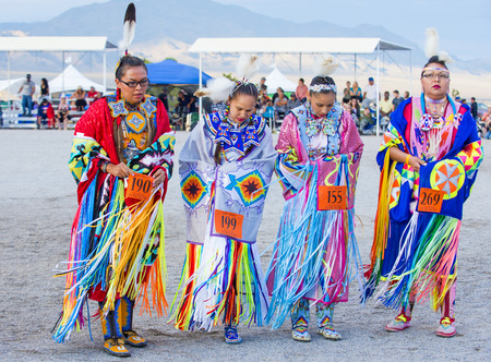pow wow: LAS VEGAS - MAY 24 : Native American women takes part at the 25th Annual Paiute Tribe Pow Wow on May 24 , 2014 in Las Vegas Nevada. Pow wow is native American cultural gathernig event.