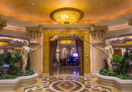 caesars palace: LAS VEGAS - JUNE 15 :The casino of Ceasars Palace on June 15, 2014 in Las Vegas. Caesars Palace is a luxury hotel and casino located on the Las Vegas Strip. Caesars has 3,348 rooms in five towers