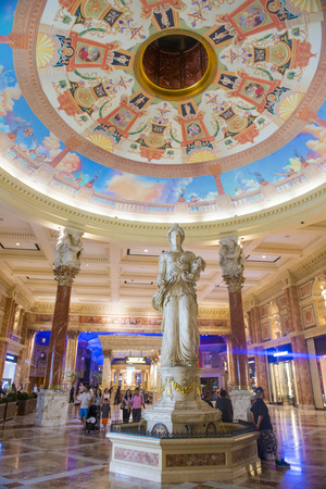 caesars palace: LAS VEGAS - JUNE 15 :The Ceasars Palace interior on June 15, 2014 in Las Vegas. Caesars Palace is a luxury hotel and casino located on the Las Vegas Strip. Caesars has 3,348 rooms in five towers
