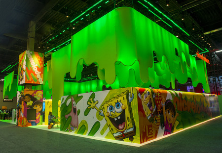licensing: LAS VEGAS - JUNE 17 : The Nickelodeon booth at the Licensing Expo in Las Vegas , Nevada on June 17 2014.  Licensing Expo is the licensing industrys largest annual event