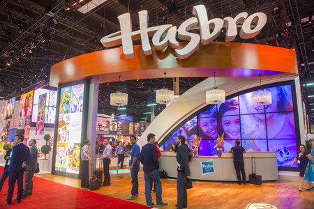 licensing: LAS VEGAS - JUNE 17 : The Hasbro booth at the Licensing Expo in Las Vegas , Nevada on June 17 2014.  Licensing Expo is the licensing industrys largest annual event Editorial
