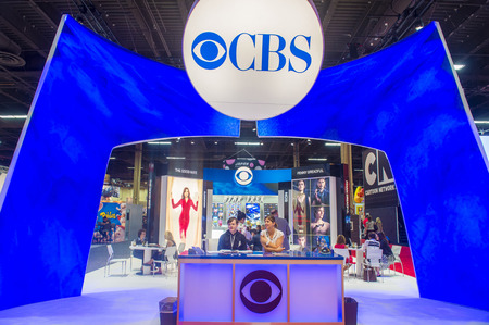 licensing: LAS VEGAS - JUNE 17 : The CBS booth at the Licensing Expo in Las Vegas , Nevada on June 17 2014.  Licensing Expo is the licensing industrys largest annual event