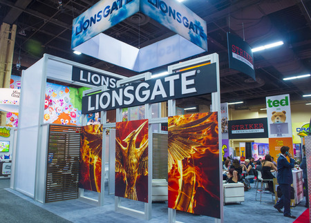 licensing: LAS VEGAS - JUNE 17 : The Lionsgate booth at the Licensing Expo in Las Vegas , Nevada on June 17 2014.  Licensing Expo is the licensing industrys largest annual event Editorial