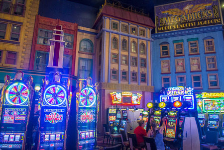 LAS VEGAS - JUNE 17 : The interior of New York-New York Hotel & Casino in Las Vegas on June 17 2014; This hotel simulates the real New York City skyline and It was opened in 1997.
