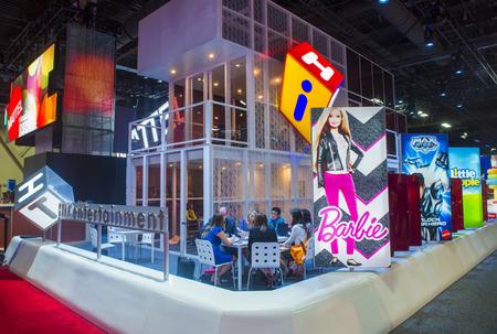 annual event: LAS VEGAS - 17 de junio: El stand de Mattel en el Licensing Expo en Las Vegas, Nevada el 17 de junio de 2014 Licensing Expo es el evento anual m�s grande de la industria de las licencias Editorial