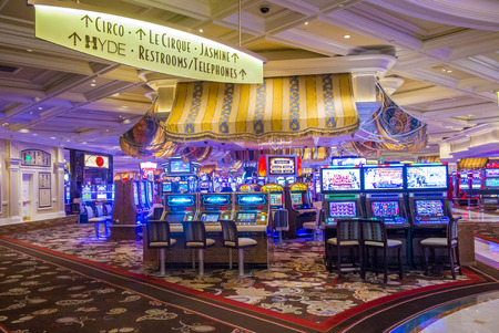 bellagio fountains: LAS VEGAS - JULY 03 : The interior of Bellagio hotel and casino on July 03 2014 in Las Vegas. Bellagio is a luxury hotel and casino located on the Las Vegas Strip. The Bellagio opened on 1998.