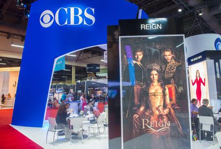 annual event: LAS VEGAS - 17 de junio: El stand de la CBS en la Licensing Expo en Las Vegas, Nevada el 17 de junio de 2014. Licensing Expo es el evento anual m�s grande de la industria de licencias