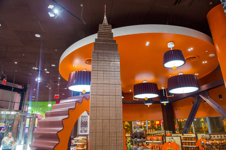 hershey's: LAS VEGAS - JUNE 17 : The Hersheys Chocolate World store in New york-New York hotel in Las Vegas on June 17, 2014. The 13,000-square-foot, two-story store opened in June 2014. Editorial
