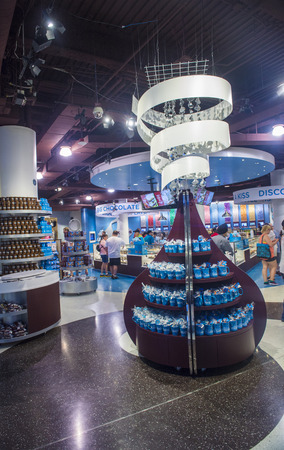 hersheys: LAS VEGAS - JUNE 17 : The Hersheys Chocolate World store in New york-New York hotel in Las Vegas on June 17, 2014. The 13,000-square-foot, two-story store opened in June 2014. Editorial