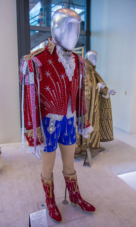the showman: LAS VEGAS - JULY 21 : Liberace costume at the Liberace and The Art of Costume exhibition in Cosmopolitan hotel in Las Vegas on July 21 2014.