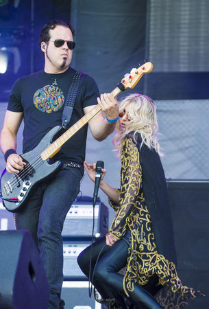 reckless: LAS VEGAS - SEP 20: Singer Taylor Momsen of The Pretty Reckless performs on stage at the 2014 iHeartRadio Music Festival Village on September 20, 2014 in Las Vegas.