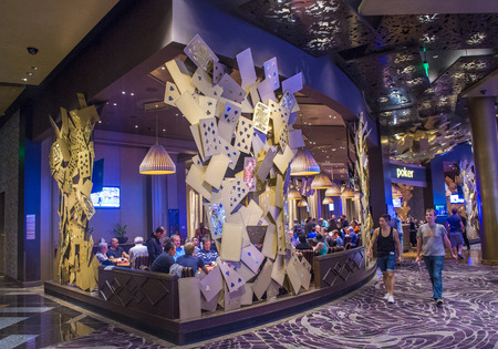aria: LAS VEGAS - AUG 14 : The interior of Aria Resort and Casino in Las Vegas on August 14 2014. The Aria was opened on 2009 and is the worlds largest hotel to receive LEED Gold certification Editorial