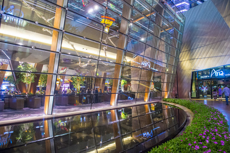aria: LAS VEGAS - AUG 14 : The Aria Resort and Casino in Las Vegas on August 26 2014. The Aria is a luxury resort and casino opened on 2009 and is the worlds largest hotel to receive LEED Gold certification