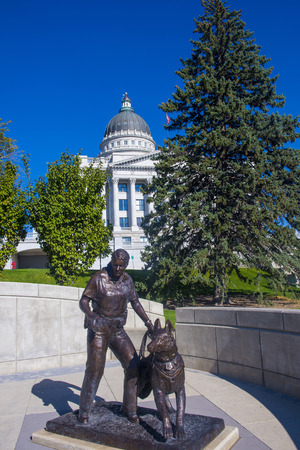 lds: SALT LAKE CITY , UTAH - AUG 31 : Tha State Capitol Building in Salt Lake City, Utah on August 31 2014.The building was designed by architect Richard Kletting, and built between 1912 and 1916.