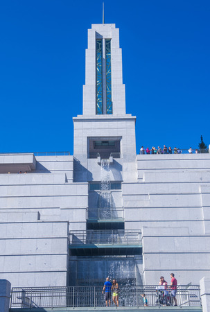 lds: SALT LAKE CITY , UTAH - AUG 31 : The LDS Conference Center in Salt Lake City , Utah in August 31 2014 , the center is the premier meeting hall for The Church of Jesus Christ of Latter-day Saints (LDS Church).