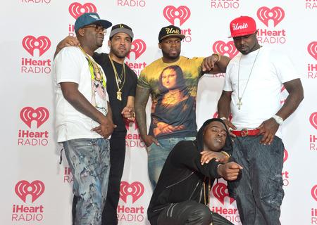 raperos: LAS VEGAS - 20 de septiembre: Los raperos Tony Yayo, 50 Cent, Young Buck, Kidd Kidd y Lloyd Banks de G Unit asiste el 2014 iHeartRadio Music Festival en el MGM Grand el 19 de septiembre de 2014 en Las Vegas. Editorial