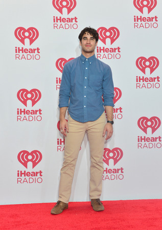 darren: LAS VEGAS - SEP 20 : Actor Darren Criss attends the 2014 iHeartRadio Music Festival at the MGM Grand Garden Arena on September 19, 2014 in Las Vegas.