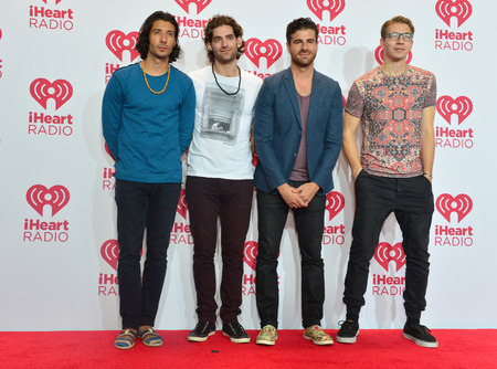 LAS VEGAS - SEP 19: Singer Nasri Atweh (L) and fellow band members of Magic! attends the 2014 iHeartRadio Music Festival at the MGM Grand Garden Arena on September 19, 2014 in Las Vegas. Editorial