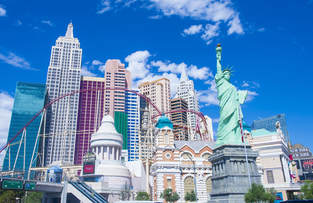 LAS VEGAS - SEP 20 : New York-New York Hotel & Casino in Las Vegas on September 20 2014; This hotel simulates the real New York City skyline and It was opened in 1997.