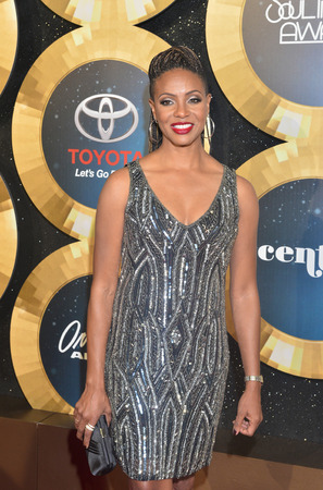 rnb: LAS VEGAS - NOV 07 : Rapper MC Lyte attends the 2014 Soul Train Music Awards at the Orleans Arena on November 7, 2014 in Las Vegas, Nevada. Editorial