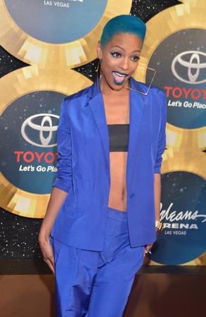 rnb: LAS VEGAS - NOV 07 : Recording artist Sharaya J attends the 2014 Soul Train Music Awards at the Orleans Arena on November 7, 2014 in Las Vegas, Nevada.