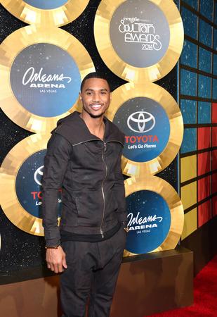 rnb: LAS VEGAS - NOV 07 : Singer Trey Songz attends the 2014 Soul Train Music Awards at the Orleans Arena on November 7, 2014 in Las Vegas, Nevada.