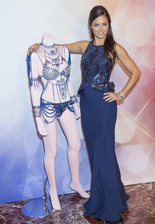 victoria secret: LAS VEGAS - NOV 13 :Model Adriana Lima attend the Victorias Secret Dream Angels Fantasy Bra debut at the Fashion Show mall on November 13, 2014 in Las Vegas.