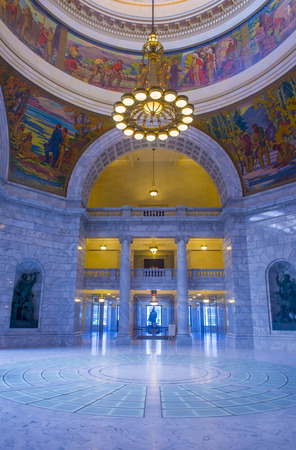 lds: SALT LAKE CITY , UTAH - AUG 31 : The State Capitol Building interior in Salt Lake City, Utah on August 31 2014. The building was designed by architect Richard Kletting, and built between 1912 and 1916.