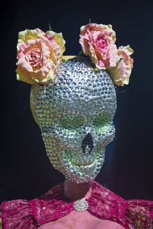 dia de los muertos: COACHELLA , CALIFORNIA - NOV 01 : Traditional Mexican art installation at the Dia De Los Muertos Experience in Coachella , California on November 01 2014
