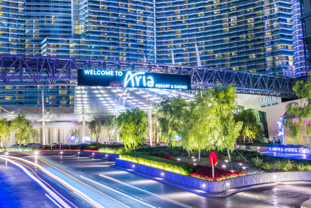 aria: LAS VEGAS - DEC 08 : The Aria Resort and Casino in Las Vegas on December 08 2014. The Aria is a luxury resort and casino opened on 2009 and is the worlds largest hotel to receive LEED Gold certification