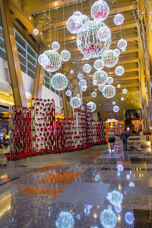 aria: LAS VEGAS - DEC 08 : The interior of Aria Resort and Casino in Las Vegas on December 08 2014. The Aria was opened on 2009 and is the worlds largest hotel to receive LEED Gold certification