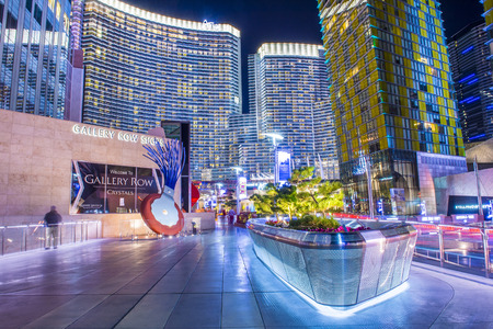 funded: LAS VEGAS - DEC 08 : The Las Vegas City Center on December 08 2014. This mixed-use complex, 76 acres, opened 2010 and was the largest privately funded construction project in USA.