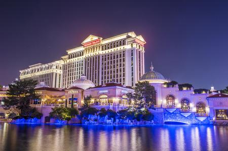 caesars palace: LAS VEGAS - DEC 04 :The Caesars Palace hotel on December 04, 2014 in Las Vegas. Caesars Palace is a luxury hotel and casino located on the Las Vegas Strip. Caesars has 3,348 rooms in five towers