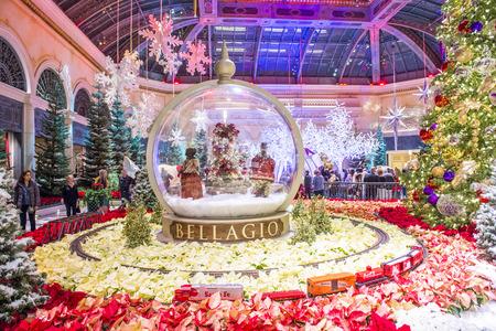 las vegas dec 04 winter season in bellagio hotel conservatory botanical gardens on - Las Vegas Christmas 2014