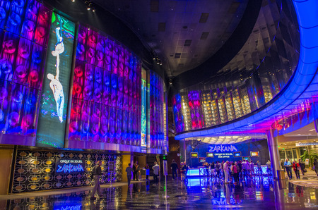 cirque du soleil: LAS VEGAS - DEC 08 : Zarkana at the Aria hotel in Las Vegas on December 08 2014. Zarkana is a Cirque du Soleil stage production written and directed by François Girard.