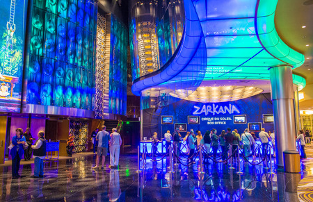 soleil: LAS VEGAS - DEC 08 : Zarkana at the Aria hotel in Las Vegas on December 08 2014. Zarkana is a Cirque du Soleil stage production written and directed by François Girard.