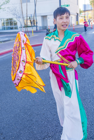 folk heritage: LAS VEGAS - FEB 21 : Participant at the Chinese New Year parade held in Las Vegas , Nevada on February 21 2015
