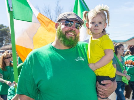 celt: HENDERSON , NEVADA - MARCH 14 : Participants at the annual Saint Patricks Day Parade in Henderson Nevada on March 14 2015 Editorial