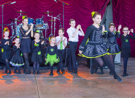 celt: HENDERSON , NEVADA - MARCH 14 : Young dancers participate in Saint Patricks Day celebration in Henderson Nevada on March 14 2015