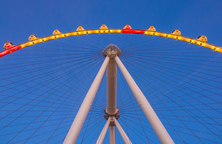 observation wheel: LAS VEGAS - FEB 21 : The High Roller at the Linq, a dining and shopping district at the center of the Las Vegas Strip on February 21 2015 , The High Roller is the worlds largest observation wheel