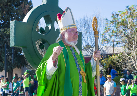 celt: HENDERSON , NEVADA - MARCH 14 : Participant at the annual Saint Patricks Day Parade in Henderson Nevada on March 14 2015