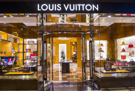 LAS VEGAS - MARCH 18 : Exterior of a Louis Vuitton store in Las Vegas strip on March 18 , 2015. The Louis Vuitton company operates in 50 countries with more than 460 stores worldwide