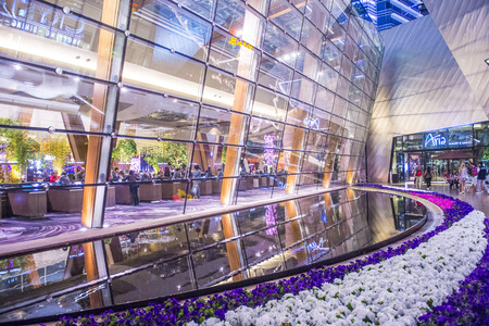 aria: LAS VEGAS - MARCH 26 : The Aria Resort and Casino in Las Vegas on March 26 2015. The Aria is a luxury resort and casino opened on 2009 and is the worlds largest hotel to receive LEED Gold certification