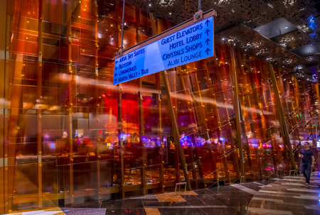 aria: LAS VEGAS - MARCH 26 : The interior of Aria Resort and Casino in Las Vegas on March 26 2015. The Aria was opened on 2009 and is the worlds largest hotel to receive LEED Gold certification