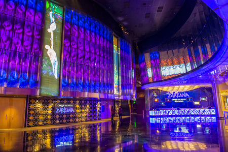 cirque: LAS VEGAS - MARCH 26 : Zarkana at the Aria hotel in Las Vegas on March 26 2015.  Zarkana is a Cirque du Soleil stage production written and directed by François Girard.