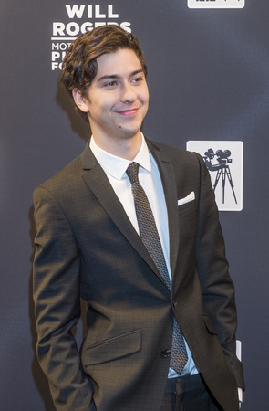 arts culture and entertainment: LAS VEGAS - APRIL 22 : Actormusician Nat Wolff attends the Pioneer Dinner during 2015 CinemaCon on April 22 , 2015 at Caesars Palace in Las Vegas, Nevada